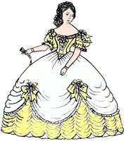 Free Stuff: Historic Ball Gown Dress 1800's Southern Belle Sewing